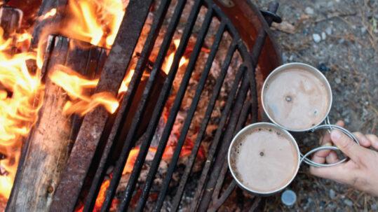 À cuire sur un feu de camp